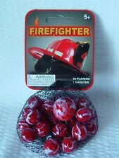 FIREFIGHTER- Net Bag Of 24 Player Mega Marbles & 1 Shooter-Instructions & Facts