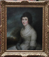 HENRI PIERRE DANLOUX 1753-1809 OLD MASTER FEMALE PORTRAIT OIL PAINTING c 1780