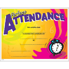 Perfect Attendance Certificate, Pack of 15