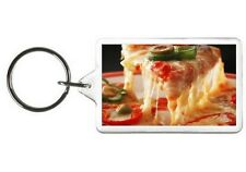 JALAPENO PIZZA NOVELTY KEYCHAIN PICTURE PHOTO KEY CHAIN