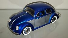 1/24 JADA 1959 VOLKSWAGEN BEETLE BUG BLUE AND SILVER WITH BLUE INTERIOR