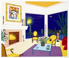 FANCH LEDAN Hand Signed Limited Edition Large Serigraph INTERIOR WITH LIBERTY