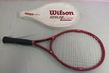 "Vintage Wilson Kevlar Select 110 Sq In Tennis Racquet w/4 5/8"" Grip & Case LOOK"