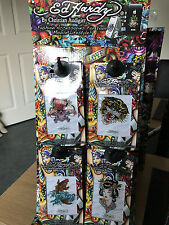 Ed Hardy Crystal Tattoo Decal display stand, with 40 various decals included