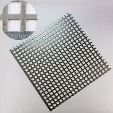10mm Hole-15mm Pitch-1.5mm Thick - Square -SS304 Perforated Mesh-300mm Sq Sheet
