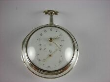 Antique all original English Verge Fusee Key wind Doctor's pocket watch. 1795