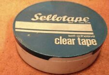 VINTAGE Sellotape in plastica contenitore Box Holder
