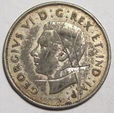 1940 CANADA HALF DOLLAR  50 cents  w/ Deep Scratches  **Free U.S. Ship