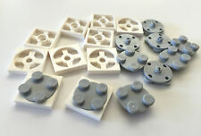 *NEW* 10 Sets  Lego TURNTABLE 2x2 WHITE Base and GRAY Top