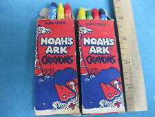 Vintage 1970s, Noah's Ark brand Colored Crayons, set of two boxes