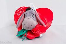 Disney 2002 Valentine Eeyore Bean Bag Plush Toy Doll Disneyland NWT