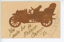 """You Auto Be in Price George VA"" Model-T Postcard ca. 1909"