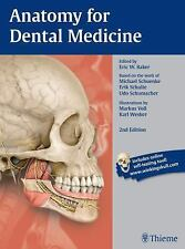 NEW Anatomy for Dental Medicine by Eric W. Baker Paperback Book (English)