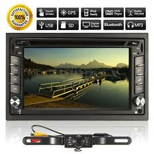 Autoradio GPS Navigation 2DIN 6.2'' DVD USB SD MP3 TV AM FM Bluetooth Camera 12V