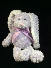 Animal Adventure Purple Lavender Bunny Rabbit Plush Plaid Bow Soft Toy 12""