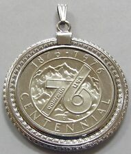 1876-1976 Colorado Centennial Medal In Sterling Silver Pendant