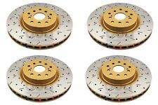 DBA 2008-2017 SUBARU STI FRONT REAR DRILLED & SLOTTED BRAKE ROTORS 4000 PACKAGE