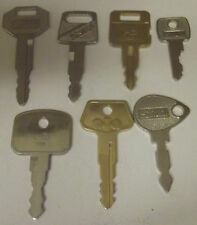 7 common keys loads excavator plant equipment jbc tractor mowers digger jd bosch