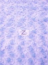 ROSE/ROSETTE MINKY FABRIC - Frozen Lilac - BY THE YARD BABY SOFT FUR BLANKET