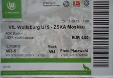 TICKET UEFA Youth League 2015/16 VfL Wolfsburg - ZSKA Moskau