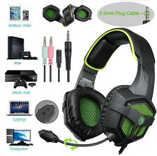 SADES SA-807 3.5mm Gaming Headset MIC Headphones Surround for PC PS4 Xbox One