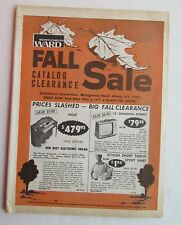Montgomery Ward Catalog Clearance Sale Mailer 1971 Electronics, TV's +++