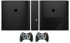 Black Carbon Fiber Vinyl Skin Sticker for Xbox360 Slim E and 2 controller skins