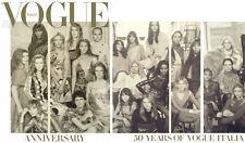 VOGUE ITALIA 50th Anniversary Steven Meisel,Cara Delevingne,Linda Evangelista