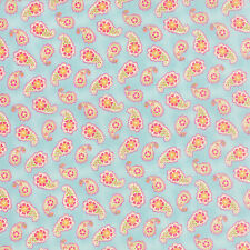 MODA Fabric ~ COLETTE ~ by Chez Moi (33053 12) Paisley/Sky - by 1/2 yard