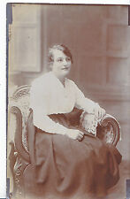 Portrait Postcard - Young Lady Sitting In Chair   DR359
