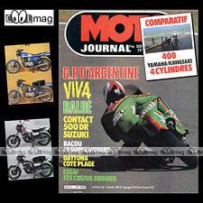 MOTO JOURNAL N°501 BURGAT ★ YAMAHA XJ 400 KAWASAKI Z 400 J ★ CAGIVA 125 RX 1981