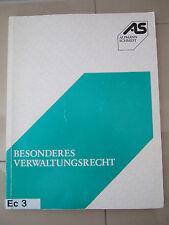 BESONDERES VERWALTUNGSRECHT, Dr. Holger Schwemer, Alpmann Schmidt