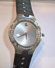 ONE OF A KIND! MENS STAINLESS DIAMOND MOVADO SE SPORTS EDITION CUSTOM DIAL