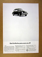 1966 Volkswagen VW Beetle car photo Don't Let Low Price Scare You Off print Ad