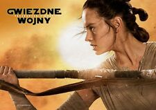 Daisy Ridley John Boyega - Star Wars The Force Awakens - Polish promo POSTER