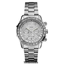 NEW GUESS WATCH for Women * Dazzling Sport * Chronograph * Silver Tone * U0016L1
