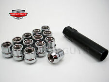 24 LUG NUTS TUNER SPLINE ACORN OPEN END 14x1.5 CHROME CHEVROLET SATURN PONTIAC