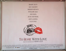 Cinema Poster: TO ROME WITH LOVE 2013 (Quad) Woody Allen Penélope Cruz