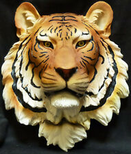 EXOTICA   Orange Tiger Head  Statue Figurine  H7.25'' x L13.5'' x W15.5''