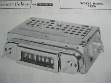 1961, 1962 WILLYS 12BW RADIO PHOTOFACT