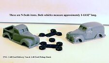 N SCALE: 1 - 1940 Ford Pick-Up & 1 - 1940 Ford Panel Delivery Van by FNS