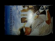 New York Yankees 2013 pocket schedule Mark Texeira MINT