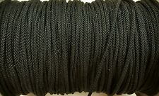 USA Nylon Double Braided Rope/Cord (Black)(1/8 Inch x 25 FT)