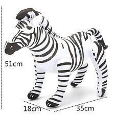 20'' Giant Inflatable Lifelike Zebra Blowup Zoo African Animal Replica Party Toy