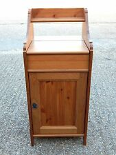 Solid pine side / end table cabinet with lift lid - wash stand - dressing chest