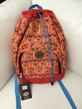 NWT Dickies Beach Bum Tribal Print Lightweight Cinch Top Closure Backpack