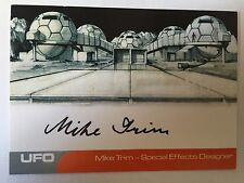UFO AUTOGRAPH CARD Mike Trim as Special Effects Designer MT2