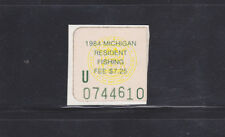 State Hunting/Fishing Revenues - MI - 1984 Bow & Arrow Hunting Resident - Used