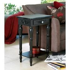 LOVELY WOOD SHABBY-COTTAGE-CHIC BLACK SIDE,END TABLE,NIGHT STAND,FREE SHIP