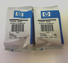 2PK Genuine HP 60 Black &Tri-Color Ink Cartridge Sealed Bag F4400 F4480 F4580